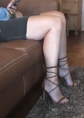 MyLeggyLady (MyLeggyLady) Tags: miniskirt sex pumps hotwife milf sexy secretary teasing minidress thighs strappy cfm heels legs
