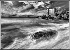 Tempesta al Boccale (Gabrisan75) Tags: castle castello paesaggio landscape blackandwhite bianconero boccale livorno
