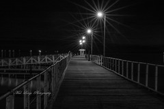 Port Lincoln town jetty winter 2018 (Malcom Lang) Tags: blakanwhite bw black white mono town jetty portlincoln port lincoln lights night rail rails railing planks nails shelter poles water sea ocean cold winter 2018 dark southaustralia southern south southernaustralia southerneyrepeninsula southernocean australia australian aussie ag ngc canoneos6d canon100400usm11 100400mm canon100400 canon100400ef canon6d canon canonef mallangphotography mal lang photography