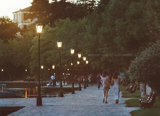 Promenade in the lakeside