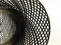 Weave *explored* (Claire Wroe) Tags: art gallery exhibit exhibition craft design black white bw mono curve line weave display nordic style manchester explore explored