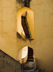 Staircase or not! (M. Carpentier) Tags: inde astronomy stairs yellow jaune escalier astronomie jaipur jantarmatar