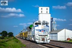 Westbound UP Passenger Train at Richland, NE (Mo-Pump) Tags: train railroad railfan railroader railway railroading locomotive