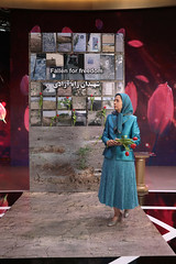 Paying homage to the monument symbolizing the grave site of martyrs fallen  for freedom – Villepinte, June 30, 2018 (maryamrajavi) Tags: regime overthrow certain iran free maryam rajavi paris resistance people victory grand gathering مریم رجوی ایران آزادی ویلپنت گردهمایی رژیم سرنگونی مسعود