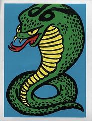 Spook Theatre Sticker ( Leaf 1961 ) (Donald Deveau) Tags: spooktheatre sticker tradingcards leaf snake cobra horror