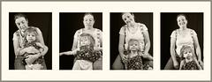 Grand Daughter #34 2018; Slip-Sliding Away (hamsiksa) Tags: portraits informal portrait studioportrait childrensportraits blackwhiteportraits series portraitseries timesequence time twoyearold terribletwos motherdaughter madonnaandchild blackwhite
