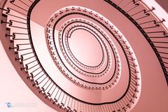 Pink Eye (Carismarkus) Tags: circle escalier kreise round rund schnecke schweiz spiral spirale stair staircase steps swiss switzerland treppe treppenauge treppenhaus wendeltreppe zürich