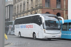 NX FJ13EBD @ Chorlton Street, Manchester (ianjpoole) Tags: selwyns travel national express volvo b9r caetano levante fj13ebd working route 060 leeds city bus station liverpool one