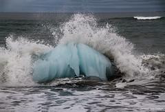 Surfing on ice (Desireevo) Tags: iceland ice ijsland ijs island islands sea beach water wave waves landscape landschaft landscapes glacier glaciers holiday wow summer nature outdoors desireevanoeffelt
