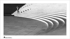 Fatima II (ximo rosell) Tags: ximorosell bn blackandwhite blancoynegro bw buildings llum luz light stairs people portugal nikon d750 arquitectura architecture