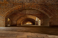 Baltimore Basilica Undercroft (jtgfoto) Tags: approved baltimore maryland baltimorebasilica cathedral church architecture historic history brick arch arches bricks ceiling undercroft crypt sonyimages sonyalpha wideangle rokinon rokinon12mm