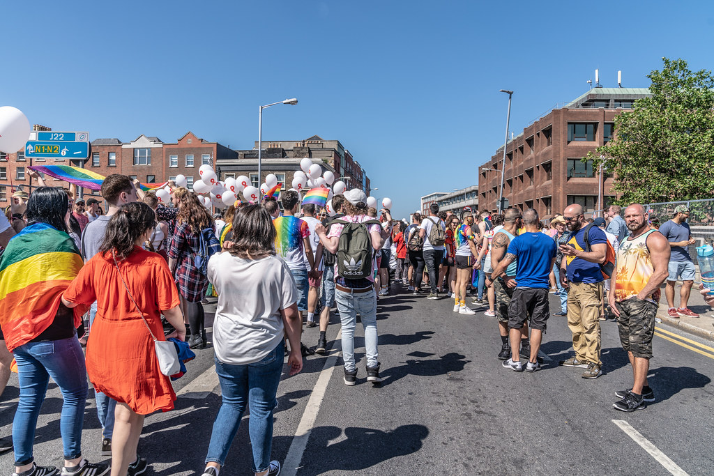 ABOUT SIXTY THOUSAND TOOK PART IN THE DUBLIN LGBTI+ PARADE TODAY[ SATURDAY 30 JUNE 2018] X-100033