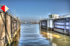 Port of Cuxhaven (Germany) (HDRforEver) Tags: canon 5d mark3 markiii photomatix hdr karsten höltkemeier hafen port harbor cuxhaven niedersachsen ocean sea january januar new interesting sky bluesky water