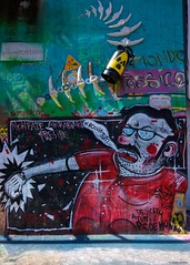 """IMGP5426 Non fate arrabbiare il Preside, """" Vi boccio tutti !! """" (Claudio e Lucia Images around the world) Tags: murales graffiti streetart milano vialemonza ferrovia via pontano milanese pentax pentaxk3ii sigma sigma1020 pittura face faccia murale art viapadova padova persone muro toxic world bones radioactivity nonfatearrabbiareilpreside vibocciotutti"""