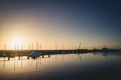 Sunrise (TS_1000) Tags: helgoland insel nordsee sonnenaufgang earlybird leica q summilux 28mm sunrise hochseeinsel morning hermannmarwede dgzrs boot boat hafen südhafen