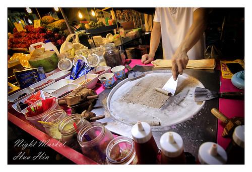 Instant rolled icecream, Hua Hin