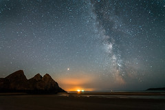 Three Cliffs Bay (Edward Bentley) Tags: mars milkyway threecliffsbay wales nightsky astrometrydotnet:id=nova2665521 astrometrydotnet:status=failed