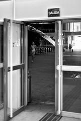 Exit (Jesús Simeón) Tags: madrid nuevosministerios puertas exit salida framed blackwhite streetphotography nightphotography