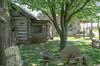 Log Cabin and Old Sharpening Wheel (frankraney130@gmail.com) Tags: sharpeningwheel old buildings redoak