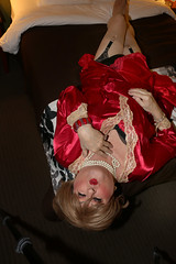 new128633-IMG_1280t (Misscherieamor) Tags: transvestite sissy crossdress tgirl transgender travestis travestie travesti tranny tv ts cd tg m2f tgurl gurl mature xdresser feminine femme transformation travestido travestit travestito traviesa transwoman satinrobe lingerie stockingtops garters kiss onbed motel satinnightgown