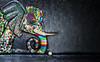 art de rue (lafoto.) Tags: street rue city light elephant color travel tag ball couleurs rock animal