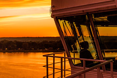 Evening Vistor (langdon10) Tags: atsea canada canon70d laurentiadesgagnes quebec ship shoreline stlawrenceriver sunset tanker troisriviere nautical outdoors