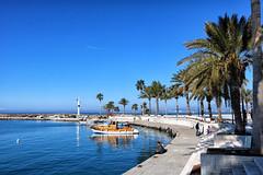 Side Limanı (Akcan PhotoGraphy) Tags: antalya side liman harbor tekne boat manzara landscape deniz sea fener ağaç tree palmiye palm eos760d uçak manavgat
