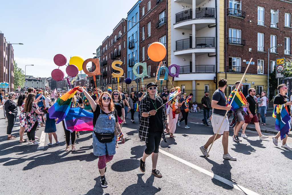 ABOUT SIXTY THOUSAND TOOK PART IN THE DUBLIN LGBTI+ PARADE TODAY[ SATURDAY 30 JUNE 2018] X-100018