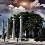 Columbia  Missouri - 4 doric columns of the former Boone County Courthouse - Historic thumbnail