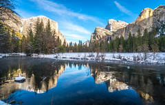 Yosemite NP Snow! Fine Art Yosemite National Park Winter Snow Landscape Photography! Valley View Merced River! Sony A7R II Mirrorless & Carl Zeiss Vario-Tessar T* FE 16-35mm f/4 ZA OSS Lens SEL1635Z! Scenic Yosemite California Winter! (45SURF Hero's Odyssey Mythology Landscapes & Godde) Tags: yosemite np snow fine art national park winter landscape photography valley view merced river sony a7r ii mirrorless carl zeiss variotessar t fe 1635mm f4 za oss lens sel1635z scenic california