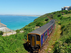 150219 Carbis Bay (6) (Marky7890) Tags: gwr 150219 class150 sprinter 2a27 carbisbay railway cornwall stivesbayline train
