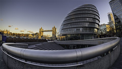 City Curves (robertse6) Tags: london cityhall towerbridge riverthames toweroflondon architecture building fisheye slpsjul18 slpsjul2018 curves