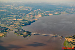 Severn bridge (red.richard) Tags: ariel bridge river fields severn