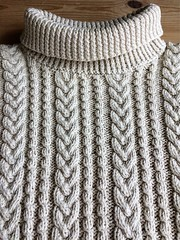 Rollneck aran pattern sweater (Mytwist) Tags: donegal ireland fisherman timeless classic vintage cream ivory mytwist itchie cabled chunky dublin passion style fashion unisex weddinggift love weekend casual knitted wool viking sussss cotton jeans outfit rollneck roll neck