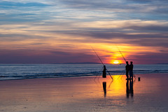 Fishermen on the shore (Explore) (babs pix) Tags: fishing fishermen seafishing tywyngwynedd tywynbeach tywynseafront sunset sunsetsea snowdonia snowdoniamountainsandcoast gwynedd clouds