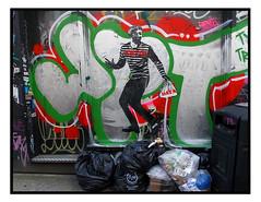 STREET ART by UNIFY (StockCarPete) Tags: unify streetart londonstreetart urbanart graffiti pasteup london uk shoreditchart data datathief dumbfucks rubbish thief crock bin streetscene street