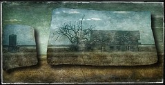 In the distance... (Sherrianne100) Tags: textures silo oldhouse dilapidated abandoned texas