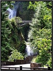 Multnomah Falls ~ Oregon ~ Northwest USA (Onasill ~ Bill Badzo) Tags: multnomah falls columbia river gorge county oregon or usa nrhp register attraction tourist historic highway us hwy 84 30 scenic route onasill bridal veil cascade site historical traveel clouds sky bridhe walking north west waterfall landscape water outdoor serene creek photo border vancouver trip canada going home oregonstate