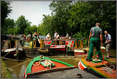 Historic Boats........ (Jason 87030) Tags: lunch parade braunston june 2018 summer weather light historic festival rally event calendar baots man woman lady people ropes mooring towpath craft vessel history northants canal cut northamptonshire shot shoot sony ilce alpha a6000 water color colour colours colourful pretty nice cool uk england scene