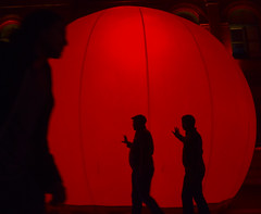 Big Red (Tyler Merbler Photo) Tags: red globe codered globalism lightcity glow sphere contrast