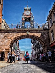 Chester Midsummer Watch 2018 (PhilnCaz) Tags: omd em1 mark ii philncaz chester mid summer watch historic history tradition 2017 cheshire celebration holiday edited hdr high dynamic range processed tone mapped snapseed olympus olympusrevolution 2018 midsummer parade mark2 markii eastgate street clock roman walled city fortress deva dee