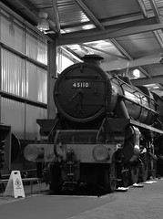45110 (simmonsphotography) Tags: severnvalley railway heritage preserved preservation train engine locomotive highley enginehouse lms stanier blackfive 45110 monochrome uksteam