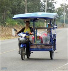 Prachuap Khiri Khan, Ao Manao Taxi 20180122_164544 DSCN1776 (CanadaGood) Tags: asia asean seasia thailand thai prachuapkhirikhan airforce military motorcycle people person canadagood 2018 thisdecade color colour autorickshaw vehicle ราชอาณาจักรไทย tuktuk samlor