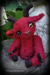Little Faun (Motor City Dolly) Tags: mohair teddy bear vintage faun goat devil imp motor city dolly sandra coe
