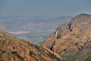 Looking Beyond The Window to Rugged Terrain and Mountain Peaks (Big Bend National Park)