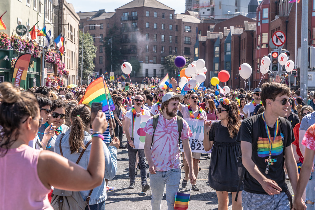 ABOUT SIXTY THOUSAND TOOK PART IN THE DUBLIN LGBTI+ PARADE TODAY[ SATURDAY 30 JUNE 2018] X-100031