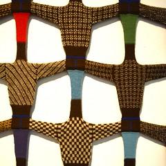 The art of knitting a sweater (mikael_on_flickr) Tags: knitting knit farelamaglia strikke strik strikning sweaters maglie art arte kunst museo museum artmuseum føroyar færøerne faroeislands isolefaroe pattern matrix tórshavn