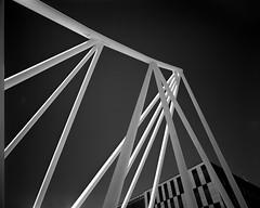 Oslo, Norway (Bjørn Joachimsen) Tags: wideangle arkitektur oslo barcode bridge analog film akrobaten largeformat filmisnotdead ilfordfp4 gibellinigp810 8x10 nikkorsw150mmf8 blackwhite
