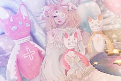 Candy Demon (Gabriella Marshdevil ~ Trying to catch up!) Tags: sl secondlife cute kawaii doll demon cubiccherry gacha lootbox crystalheart halfdeer doe lolita