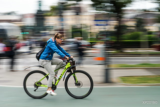 Cyclist in Vienna (explored)